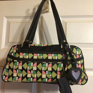 The Sak Handbag Satchel Bowler w/ Bonus Makeup Bag